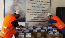 مساعدات من جمعية صور الثقافية لمنكوبي انفجار بيروت