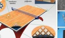 تطوير طاولة تنس ذكية تخبر اللاعبين بمكان الكرة بدقة