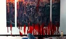 """""""شظايا بيروت"""" لوحة للجزائري عبد الحليم كبيش تصور مأساة الإنفجار"""