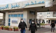 التقريراليومي لمستشفى بيروت الحكومي: شفاء 3 مصابين و68 إصابة مثبتة و4 حرجة