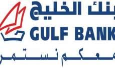 """ارتفاع صافي ربح """"بنك الخليج الكويتي"""" 18% في النصف الاول"""