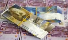 احتياطي النقد الأجنبي لدى سويسرا يرتفع بنهاية كانون الثاني