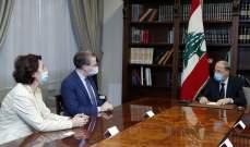 الرئس عون يبحث مع مستشار الرئيس الفرنسي العلاقات الثنائية والمبادرة الفرنسية والملف الحكومي