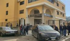 محتجون يعتصمون أمام عدد من المرافق العامة في حلبا