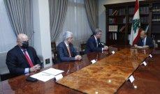 """الرئيس عون بعد لقاءه وفداً من """"البنك الدولي"""": لإعادة هيكلة القروض التي لم تستعمل بعد وفق الأولويات الطارئة"""