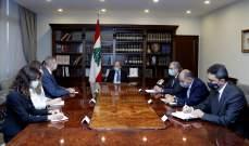 الرئيس عون يعرض مع كوبيتش ملف ترسيم الحدود البحرية