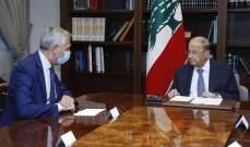 الرئيس عون يعرض مع رئيس مفوضية شؤون اللاجئين التقديمات لمساعدة لبنان