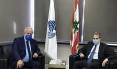 وزني عرضمع رئيس مجلس الإسكان إتفاقية القرض بين الصندوق العربي ولبنان