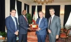 تجمع رجال وسيدات الاعمال نظم زيارة لحاكم البنك المركزي البوروندي للبنان
