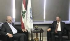 خليل استعرض مع سفير الإتحاد الأوروبي الأوضاع السائدة والحلول المناسبة لها