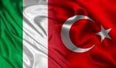 إيطاليا تتجاوز اميركا في حجم التبادل التجاري مع تركيا في 2019