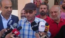 عمال تشغيل انظمة المياه في بعلبك يعتصمون للمطالبة بحقوقهم