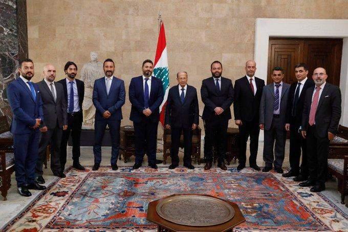 الرئيس عون استقبلوفداً من نقابة موظفي ومستخدمي الشركات المشغلة للقطاع الخليوي