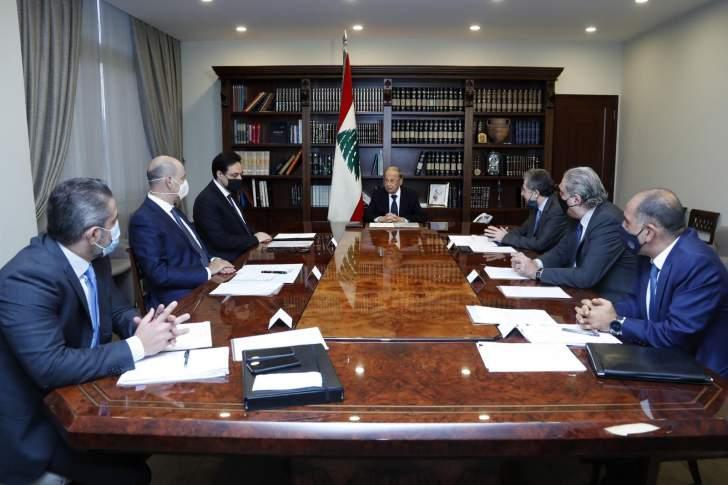 الرئيس عون يجتمع بدياب ووزني ورئيس ديوان المحاسبة للبحث في عدد من المواضيع الادارية