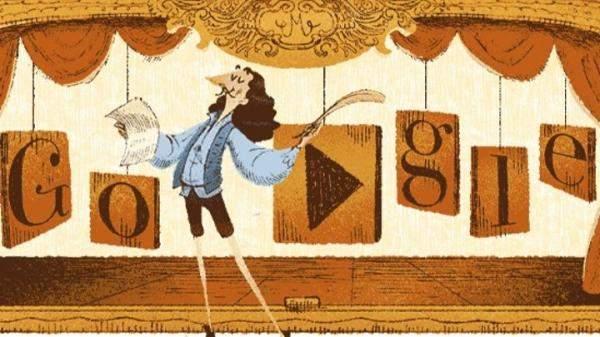 """""""غوغل"""" يحتفل بالكاتب الفرنسي ومؤسس الكوميديا الراقية موليير من خلال """"دودل"""" خاصة بالمناسبة"""