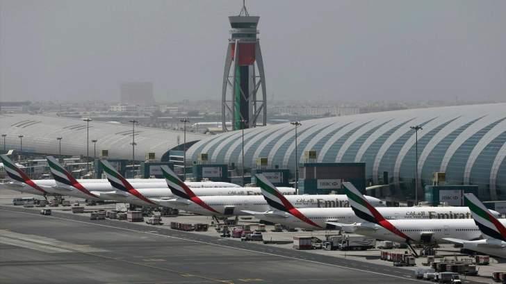 """عدد المسافرين عبر """"مطار دبي"""" يهبط 70% في 2020"""