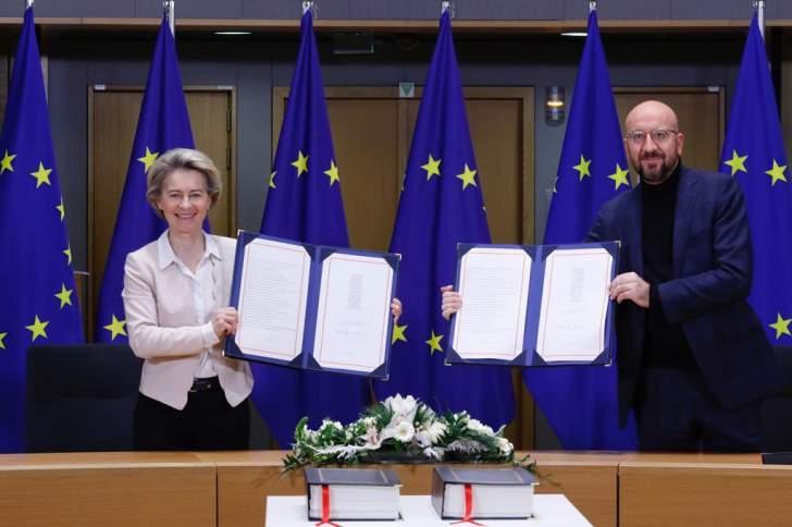 """بعد 5 سنوات من قرار الانسحاب.. البرلمان الأوروبي يقر اتفاقية التجارة لما بعد """"بريكست"""""""