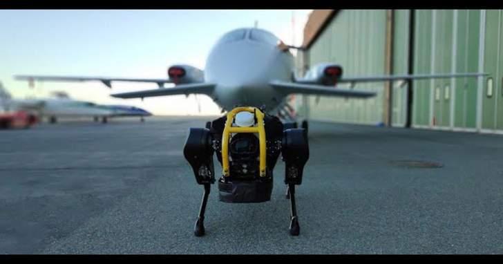 """""""HyQReal"""" روبوت جديد يمكنه سحب طائرة وزنها ثلاثة أطنان"""