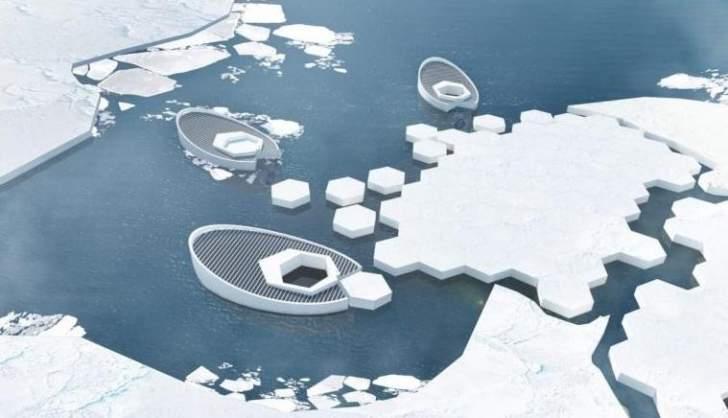 العمل على تطوير غواصات تصنع الجليد في القطب الشمالي
