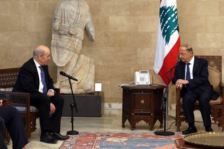 الرئيس عون يطلب مساعدة فرنسا والدول الأوروبية في استعادة الأموال المهربة الى الخارج