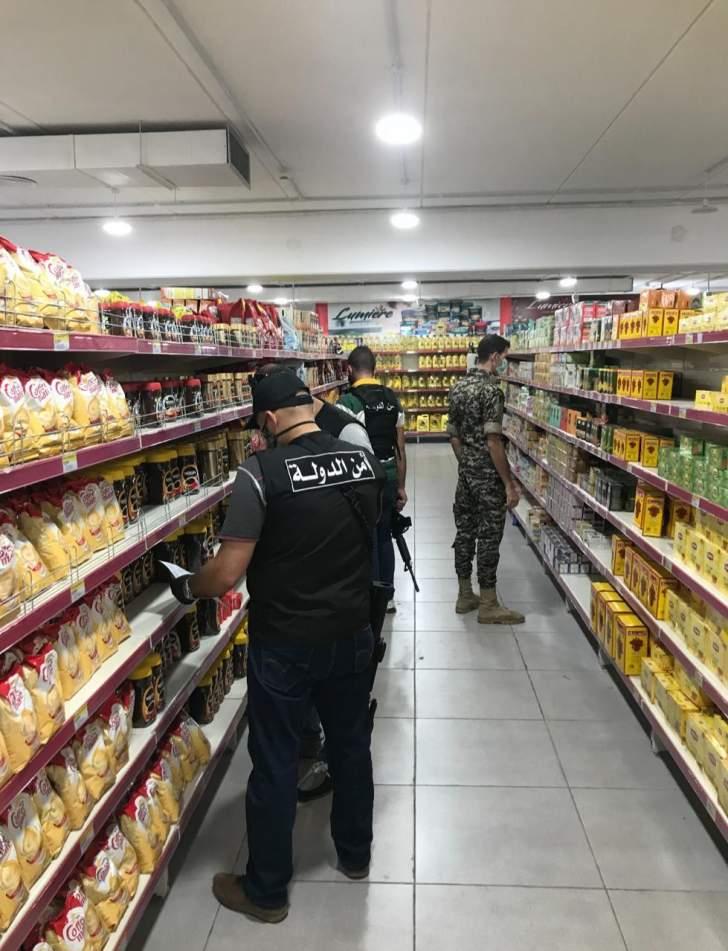 أمن الدولة: جوله على المحلات والسوبر ماركت في صيدا للتأكد من الأسعار واجراءات الوقاية والسلامة