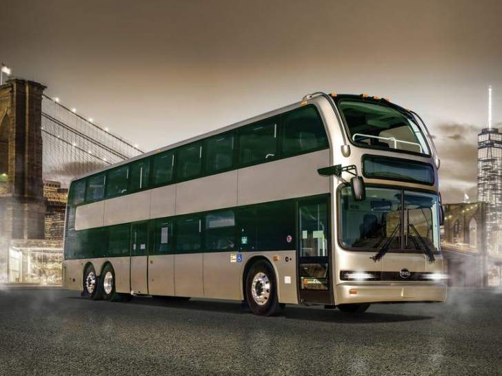 """""""بي واي دي"""" تصمم أكبر حافلة كهربائية ذات طابقين في أميركا"""
