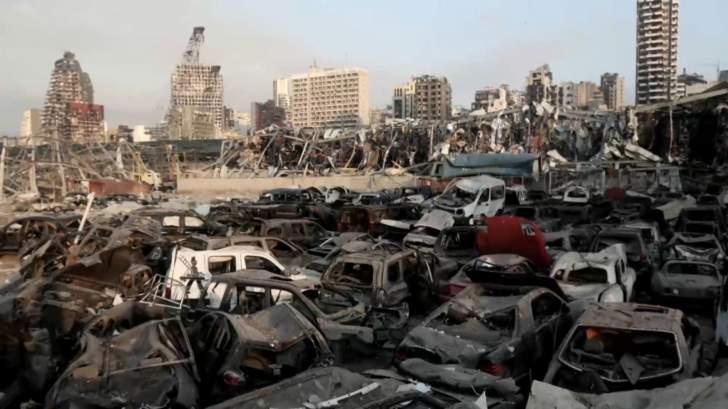 350 سيارة مستوردة بقيمة 5 ملايين دولار تضررت بفعل انفجار المرفأ