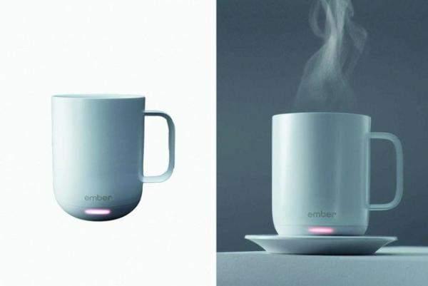 """""""إمبر"""" كوب ذكي يتحكم في درجة حرارة الشاي والقهوة"""