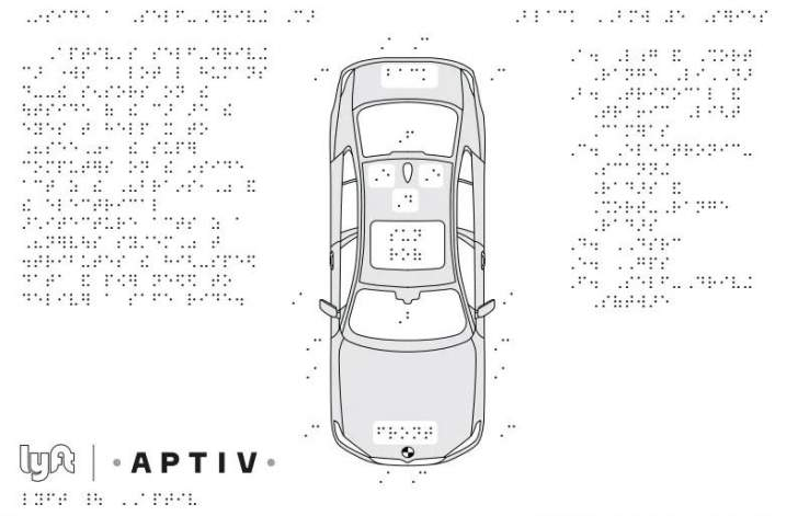 """سيارات """"Lyft"""" ذاتية القيادة توفر خرائط ورسومات تخطيطية للمكفوفين"""
