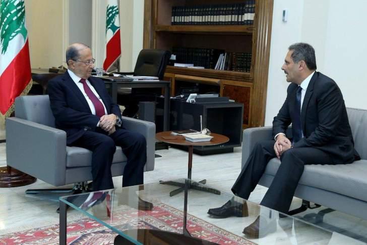 حمود بعد لقائه الرئيس عون: مستمرون في العمل حفاظا على سمعة لبنان ومناعة اقتصاده