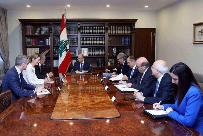 رالف يبحث مع عون ضرورة إيجاد إجابات مستدامة للتحديات التي يواجهها لبنان