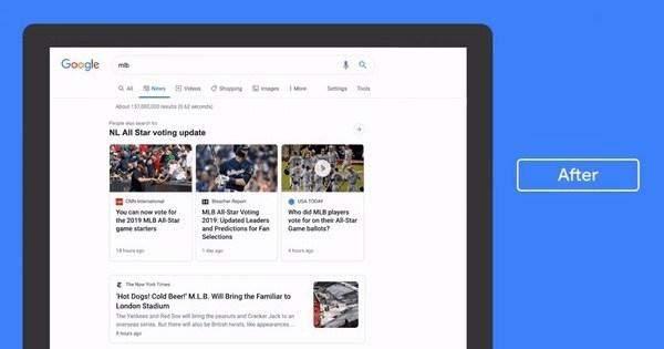 """""""غوغل"""" تحدث تصميم قسم الأخبار في محرك البحث"""
