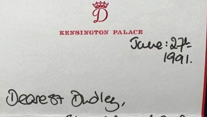 رسالة كتبتها الأميرة ديانا بخطّ يدها للبيع في المزاد بـ...!