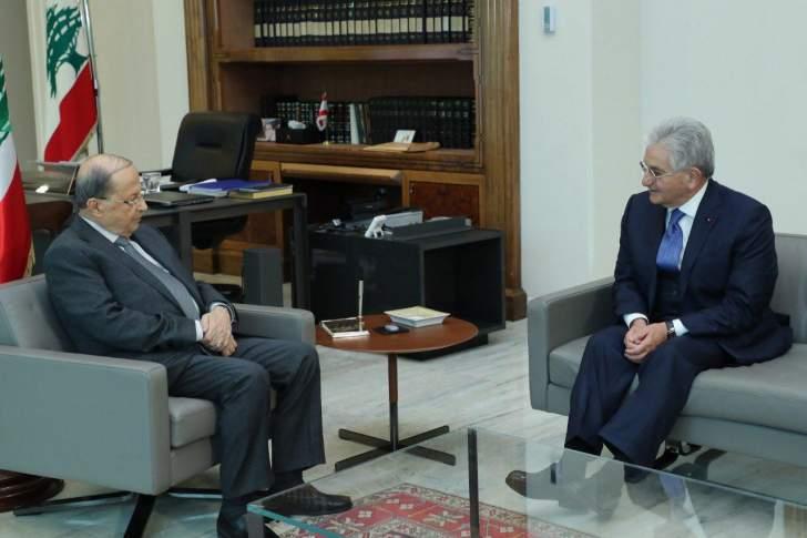 الرئيس عون يعرض مع رئيس جمعية المصارف التطورات المالية والمصرفية