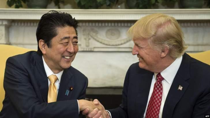 ترامب وآبي يتفقان على مبادئ اتفاق تجارة خلال قمة الـ7