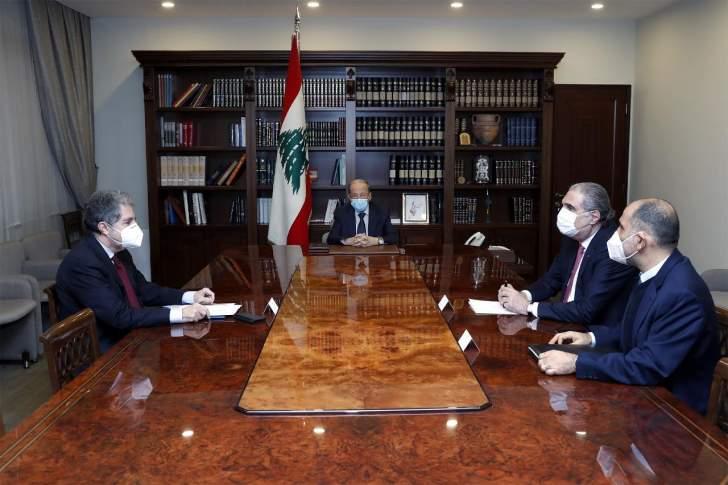 الرئيس عون يبحث مع وزني مسار التدقيق المالي الجنائي