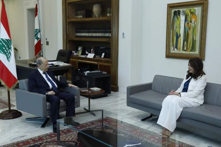 الرئيس عون يطلب من شريم متابعة تنفيذ ملف المهجّرين خلال فترة تصريف الأعمال