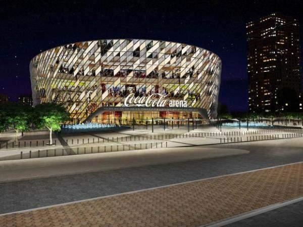 """بالصور: """"دبي أرينا"""" تتحول إلى """"كوكا كولا أرينا"""" لمدة 10 سنوات"""