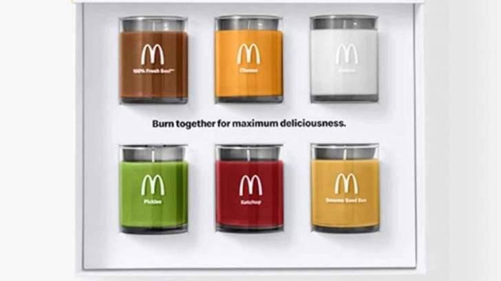 """""""ماكدونالدز"""" تطلقمجموعة من الشموع التي تحمل روائح وجباتها"""