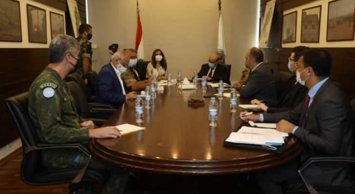 إجتماع في وزارة الدفاع حول الهجرة غير الشرعية والإتجار بالبشر
