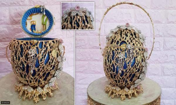 بالصور: حقيبة بـ6.7 مليون دولار مصنوعة من بيضة حقيقية