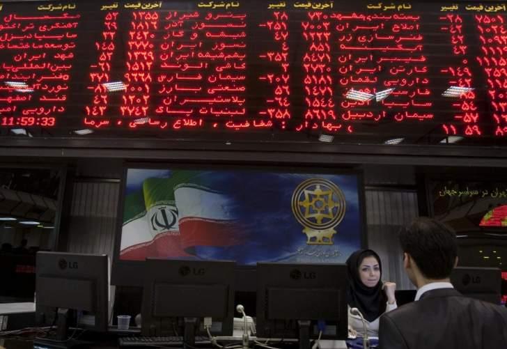 بورصة طهران تغلق على ارتفاع عند 1070 نقطة