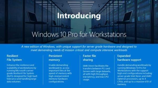 """""""مايكروسوفت"""" تكشف عن نسخة """"Workstation"""" من """"ويندوز 10 برو"""" للخوادم"""