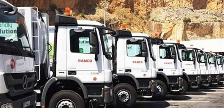 """""""رامكو"""": لم نعد قادرين على الإستمرار بعمليات رفع النفايات ضمن نطاق بيروت والمتن وكسروان"""