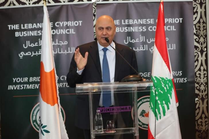 شهوان خلال تكريمه السفير القبرصي: هناك العديد من القطاعات التي نجح فيها اللبنانيون في قبرص