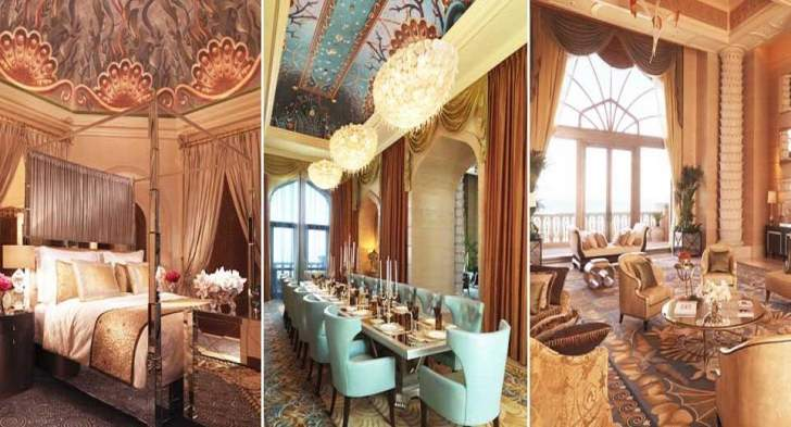 """الجناح الملكي لفندق """"أتلانتس"""" بتكلفة 130 ألف درهم بالليلة!"""