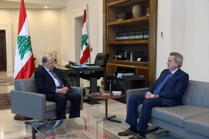 الرئيس عون يعرض مع سلامة الواقع النقدي وعمل المصرف المركزي