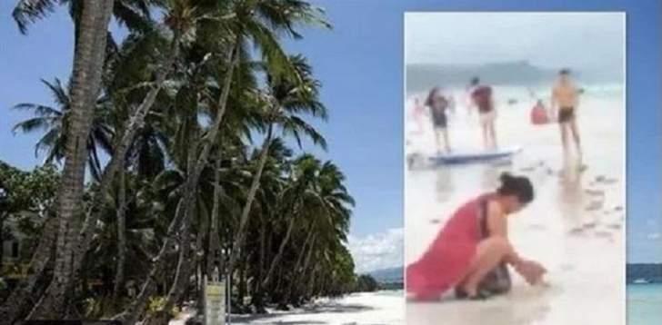 إعلان حالة الطوارئ وإغلاق شاطئ سياحي... والسبب حفاضة!