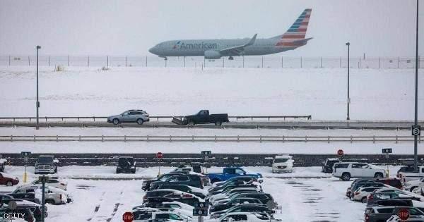الثلوج فيشمال شرق الولايات المتحدة تتسبب بإلغاء أكثر من 3000 رحلة