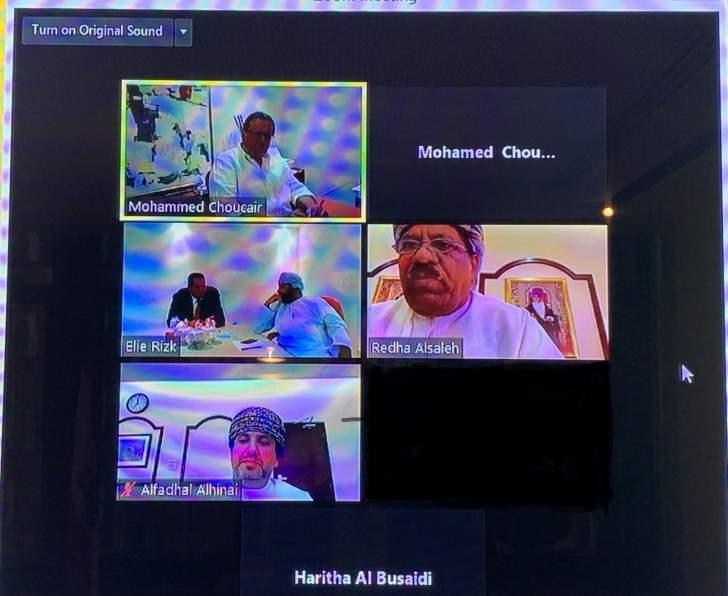 شقير يبحث مع رئيس غرفة تجارة وصناعة سلطنة عمان في تنمية العلاقات الإقتصادية بين البلدين